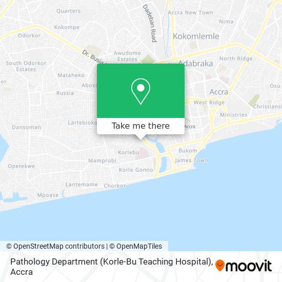 Pathology Department (Korle-Bu Teaching Hospital) map
