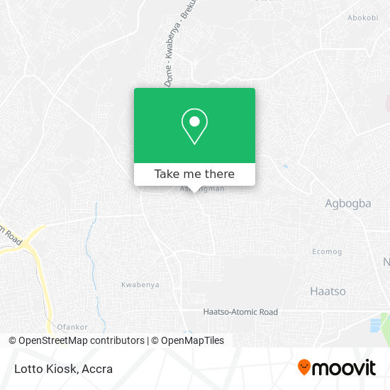 Lotto Kiosk map