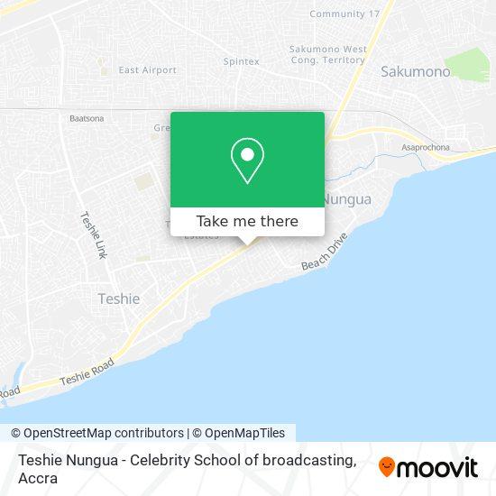 Teshie Nungua - Celebrity School of broadcasting map