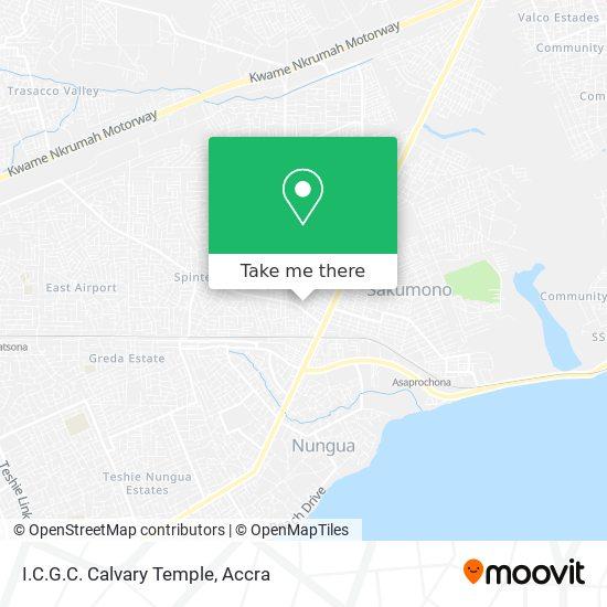 I.C.G.C. Calvary Temple map