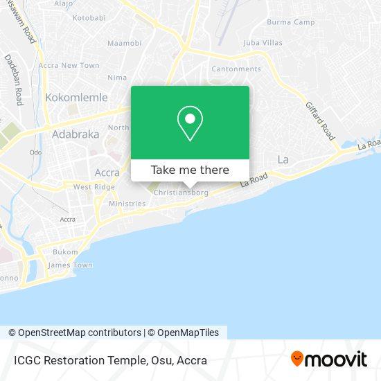 ICGC Restoration Temple, Osu map