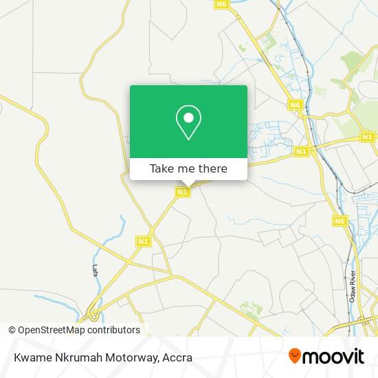 Kwame Nkrumah Motorway map