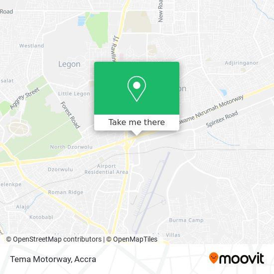 Tema Motorway map