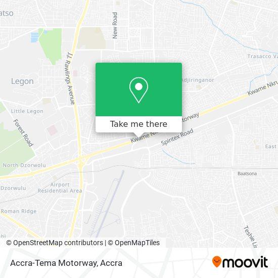 Accra-Tema Motorway map