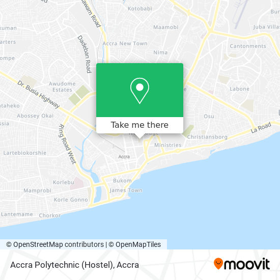 Accra Polytechnic (Hostel) map