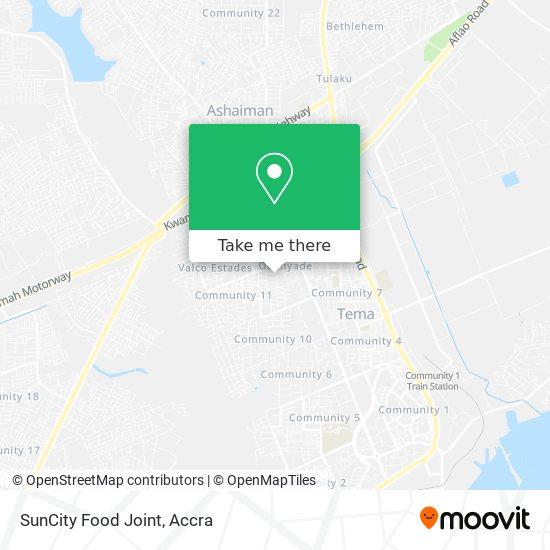 SunCity Food Joint map