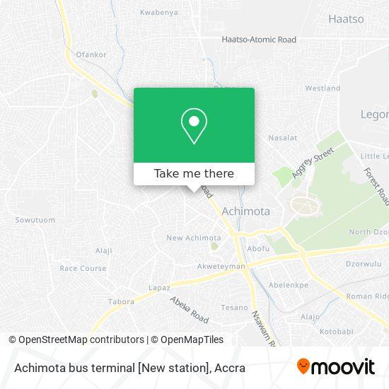 Achimota bus terminal [New station] map