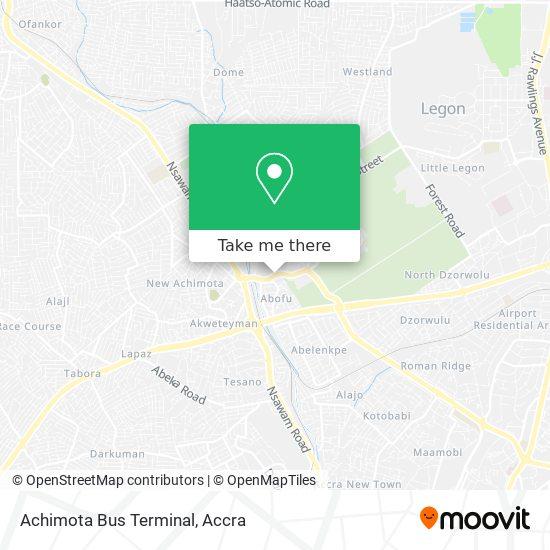 Achimota Bus Terminal map