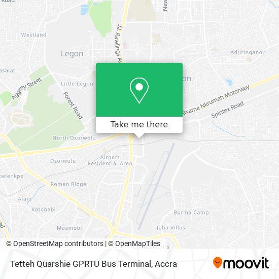 Tetteh Quarshie GPRTU Bus Terminal map