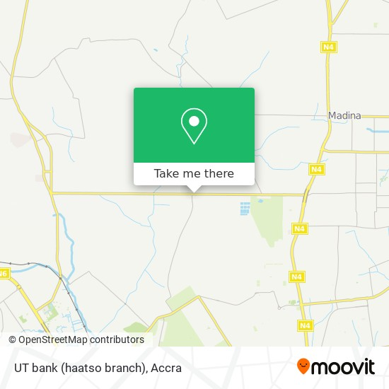 UT bank (haatso branch) map