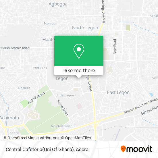Central Cafeteria(Uni Of Ghana) map