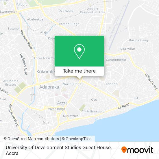 University Of Development Studies Guest House map