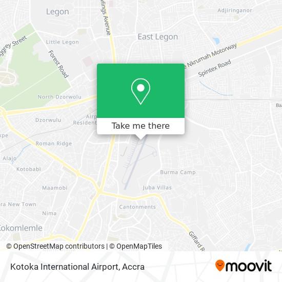 Kotoka International Airport map