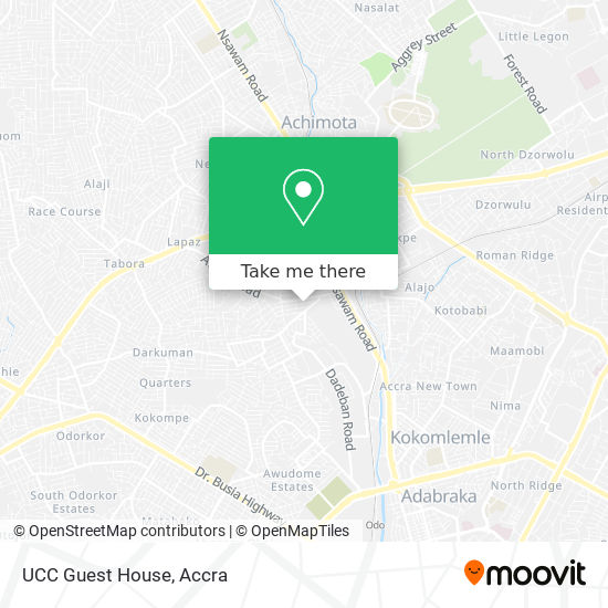 UCC Guest House map