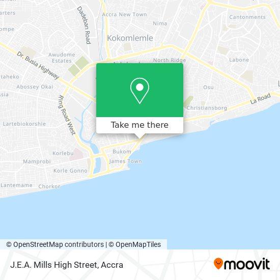 J.E.A. Mills High Street map