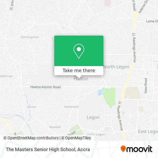 The Masters Senior High School map