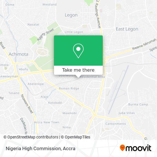 Nigeria High Commission map