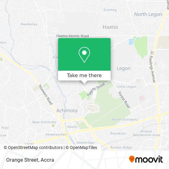 Orange Street map