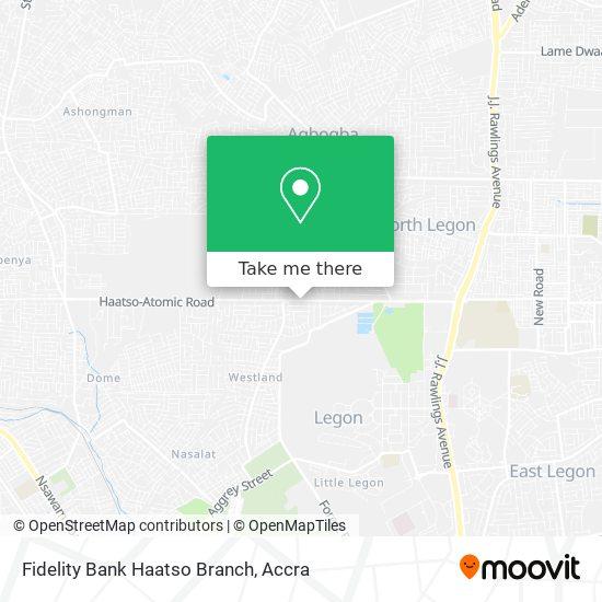 Fidelity Bank Haatso Branch map