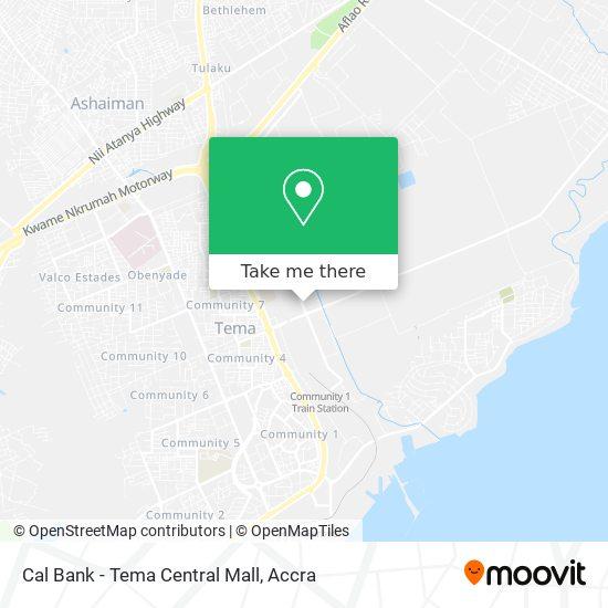 Cal Bank - Tema Central Mall map