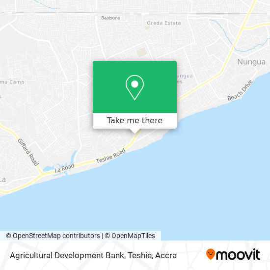 Agricultural Development Bank, Teshie map