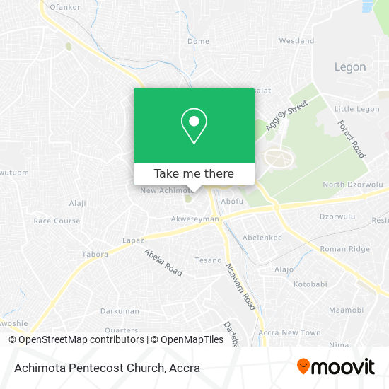 Achimota Pentecost Church map