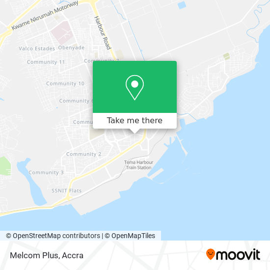 Melcom Plus map