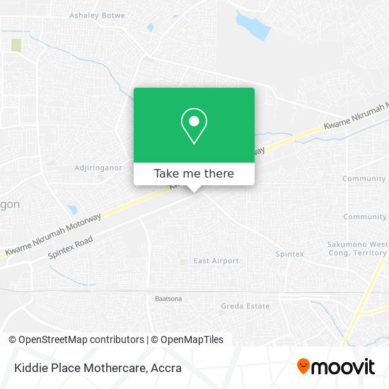 Kiddie Place Mothercare map