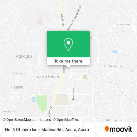 No. 6 Otchere lane, Madina-Ritz, Accra map