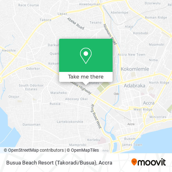 Busua Beach Resort (Takoradi / Busua) map