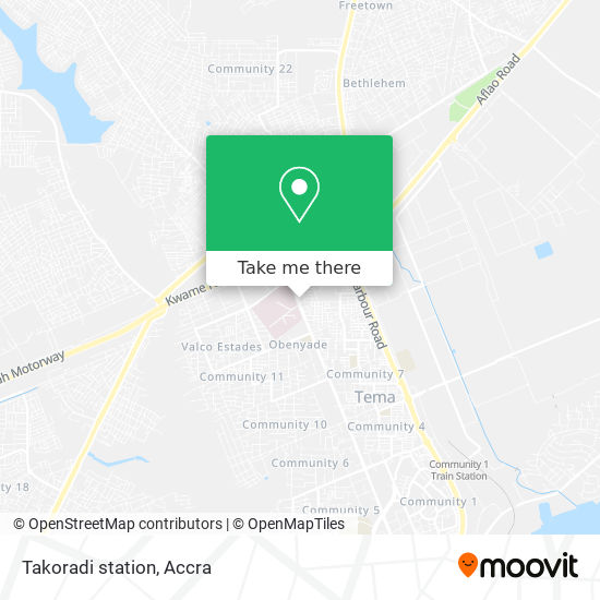 Takoradi station map