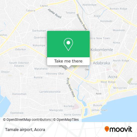 Tamale airport map