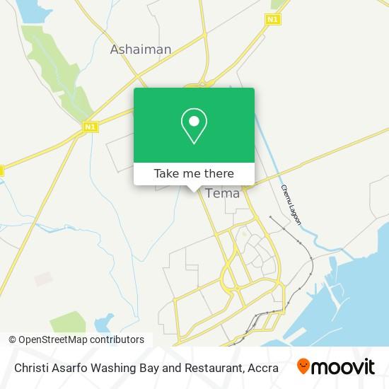 Christi Asarfo Washing Bay and Restaurant map