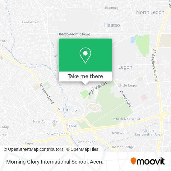 Morning Glory International School map