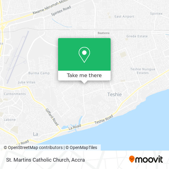 St. Martins Catholic Church map