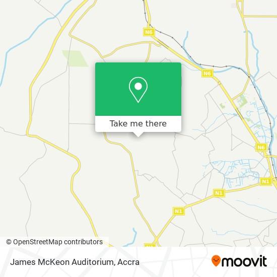 James McKeon Auditorium map