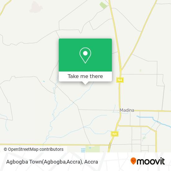 Agbogba Town(Agbogba,Accra) map