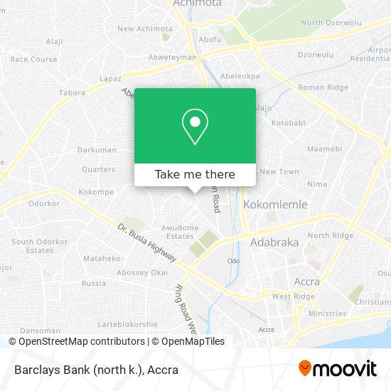 Barclays Bank (north k.) map