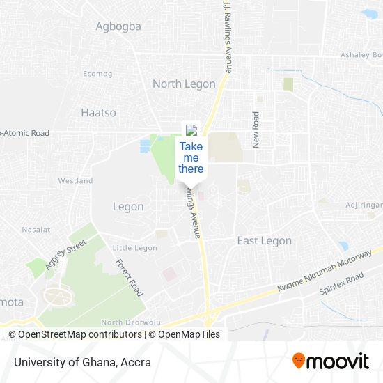 University of Ghana map