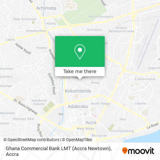 Ghana Commercial Bank LMT (Accra Newtown) map