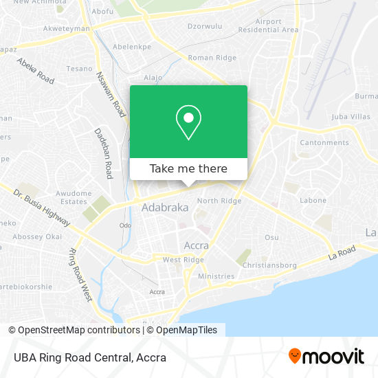 UBA Ring Road Central map