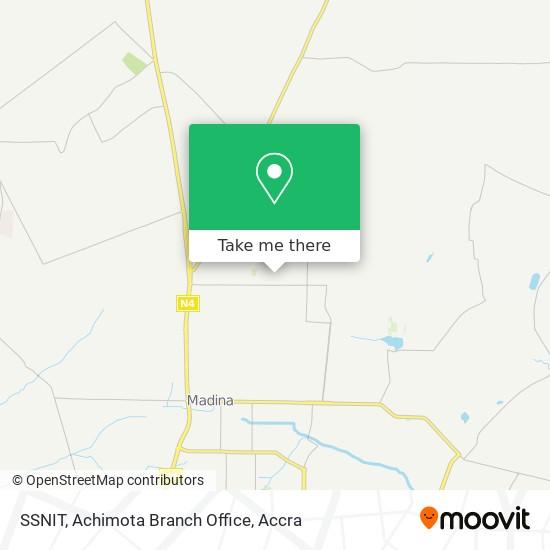 SSNIT, Achimota Branch Office map
