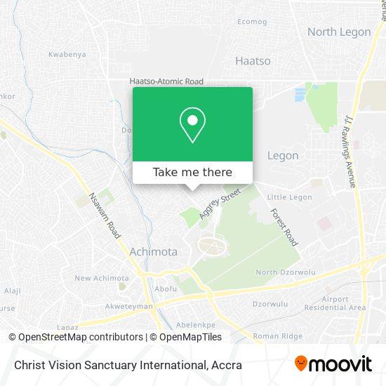 Christ Vision Sanctuary International map