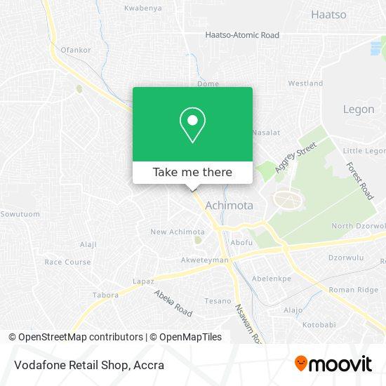 Vodafone Retail Shop map