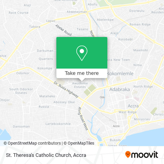 St. Theresa's Catholic Church map