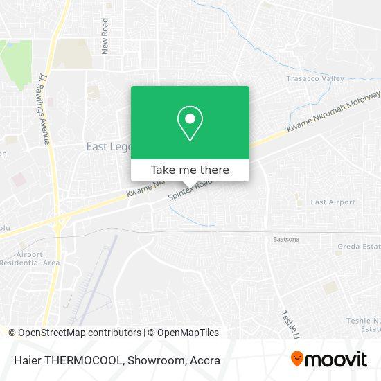 Haier THERMOCOOL, Showroom map