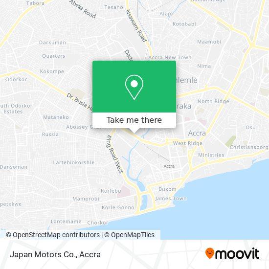 Japan Motors Co. map