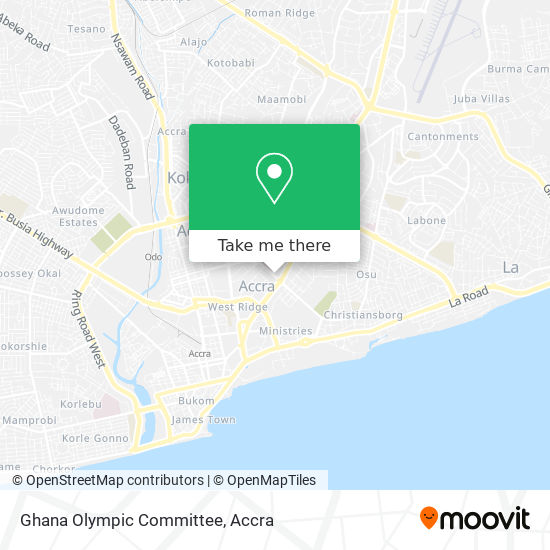 Ghana Olympic Committee map