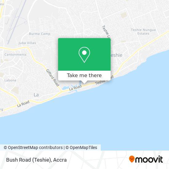 Bush Road (Teshie) map