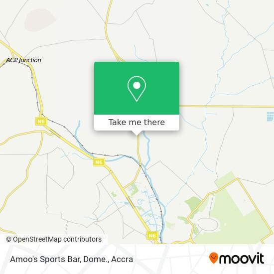 Amoo's Sports Bar, Dome. map